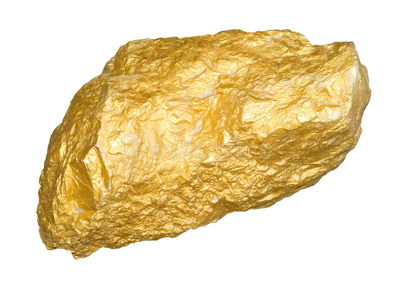 Pepita de ouro imagens de stock royalty free