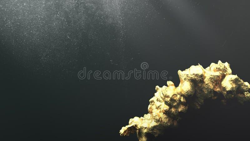 Pepita di oro gigante immagini stock