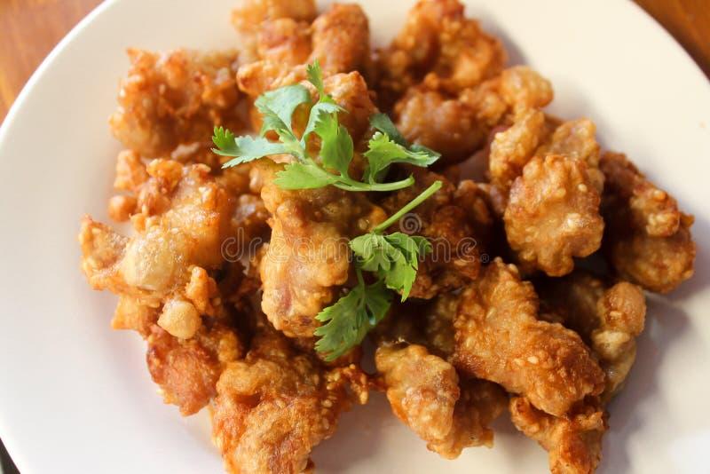 Pepitas de galinha fritada fotografia de stock