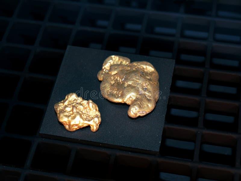 Pepitas de ouro imagem de stock royalty free