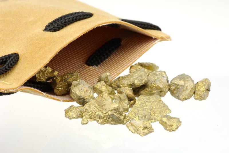 Pepitas de ouro imagens de stock royalty free