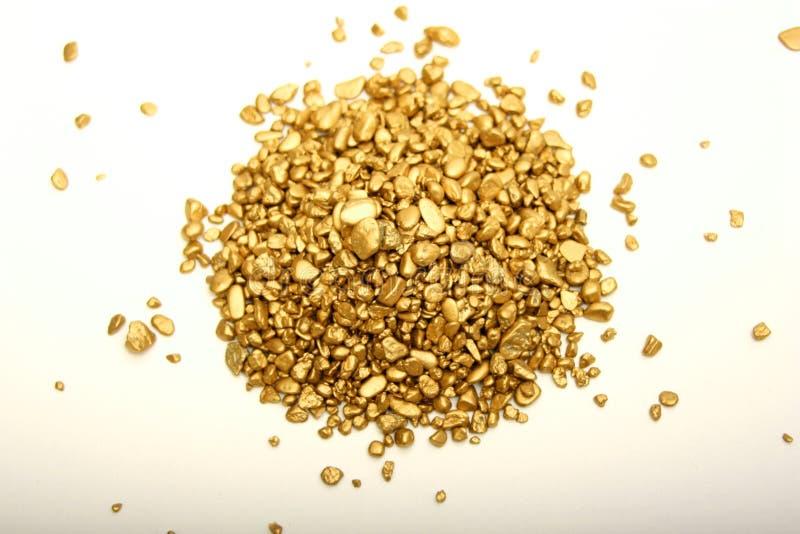 Pepitas de ouro fotos de stock royalty free