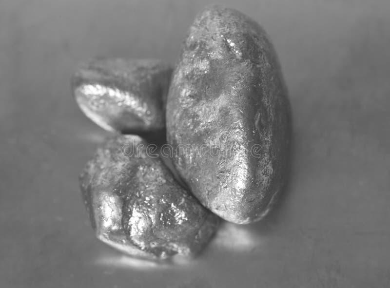Pepitas de prata fotografia de stock