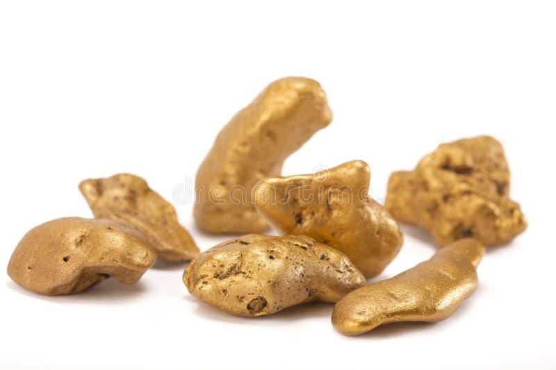 Pepitas del oro imágenes de archivo libres de regalías