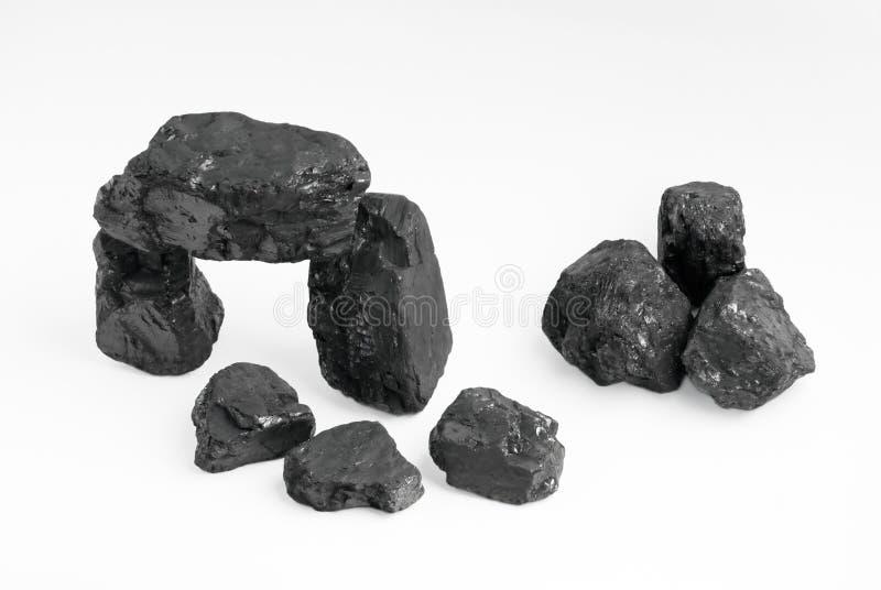 Pepitas do carbono fotos de stock