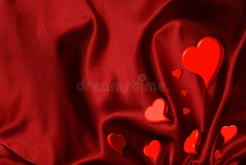 Pepitas do coração do Valentim foto de stock royalty free