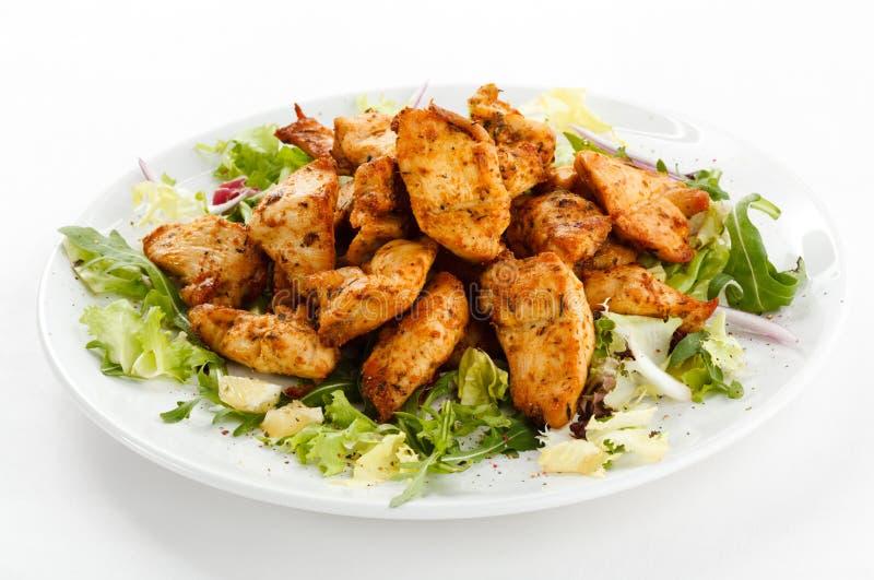 Pepite di pollo fritto fotografie stock