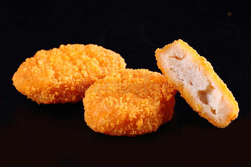 Pepite fritte fotografie stock libere da diritti