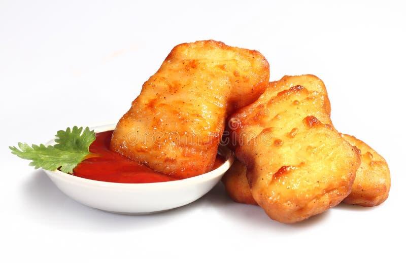 Pepite fritte fotografie stock