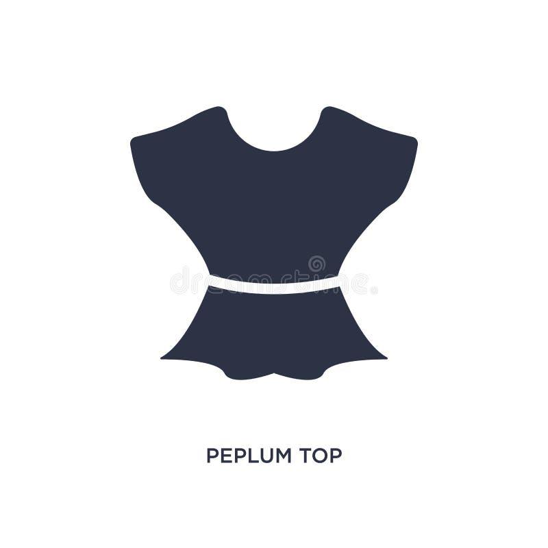 peplumöverkantsymbol på vit bakgrund Enkel beståndsdelillustration från kläderbegrepp stock illustrationer