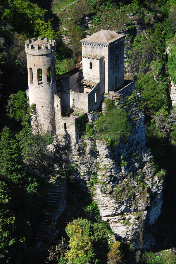 Pepoli Turret in Erice / Sicily stock photo