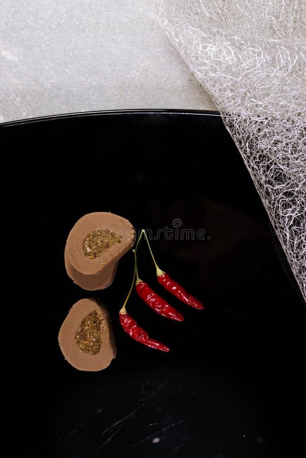 Peppar och kakor royaltyfri bild