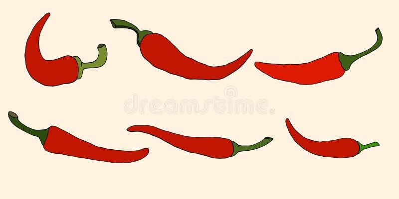 Peppar vektorillustration vektor illustrationer