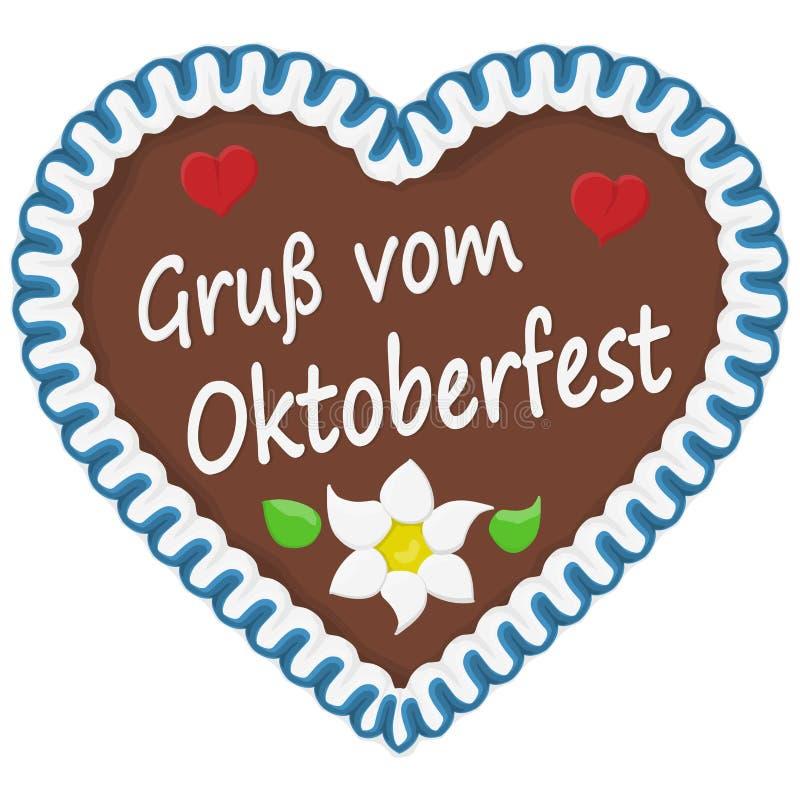 pepparkakahj?rta Oktoberfest 2019 2020 stock illustrationer