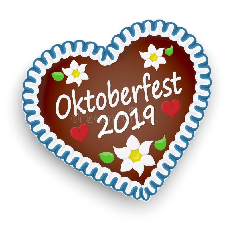 pepparkakahj?rta Oktoberfest 2019 vektor illustrationer