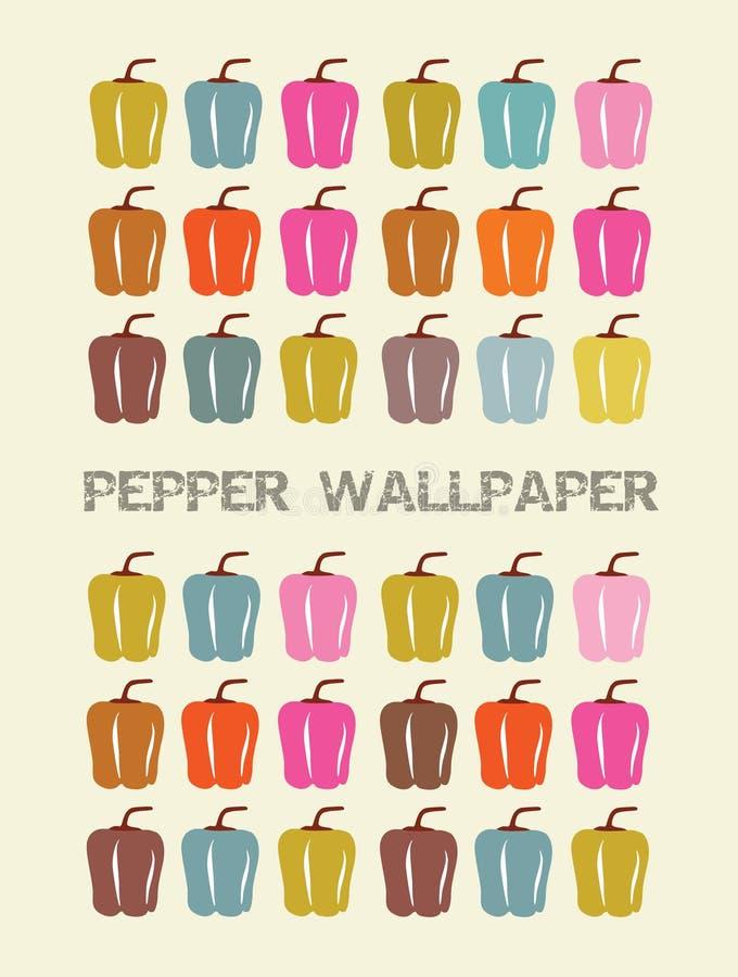 pepparwallpaper royaltyfri illustrationer