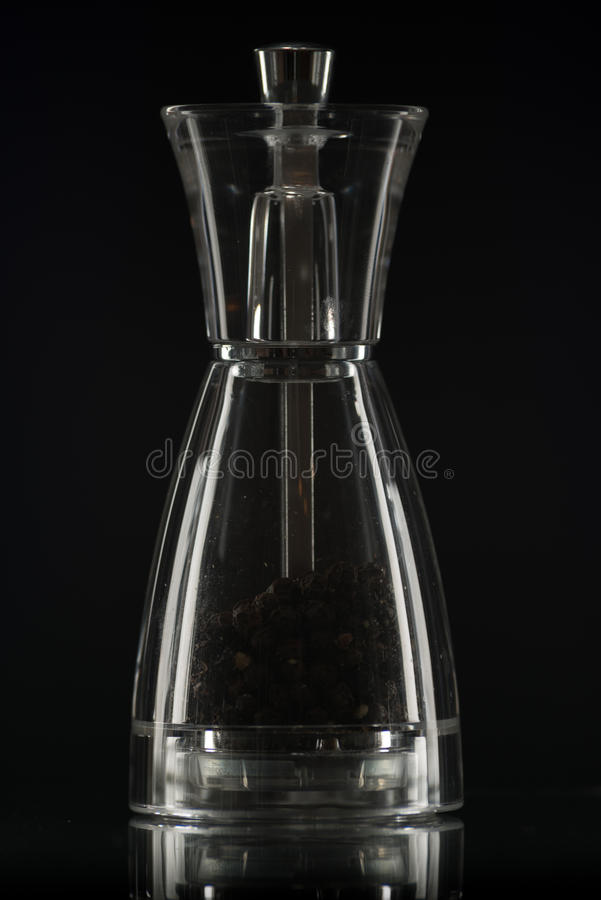 Pepper cellar, shakers. Pepper cellar, shakers no black background, low key royalty free stock photography