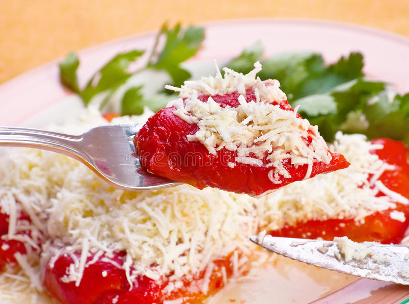Download Pepper With Cheese Royalty Free Stock Photos - Image: 25317218