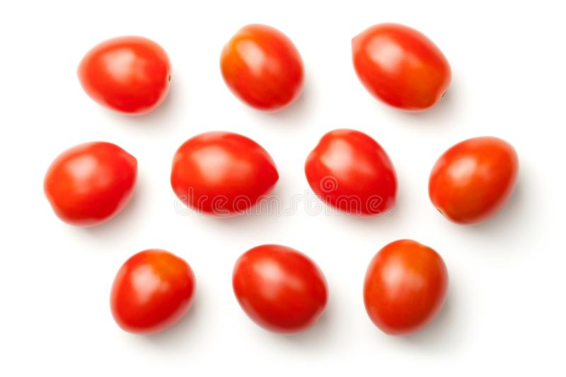 Pepper Cherry Tomatoes Isolated on White Background royalty free stock photography
