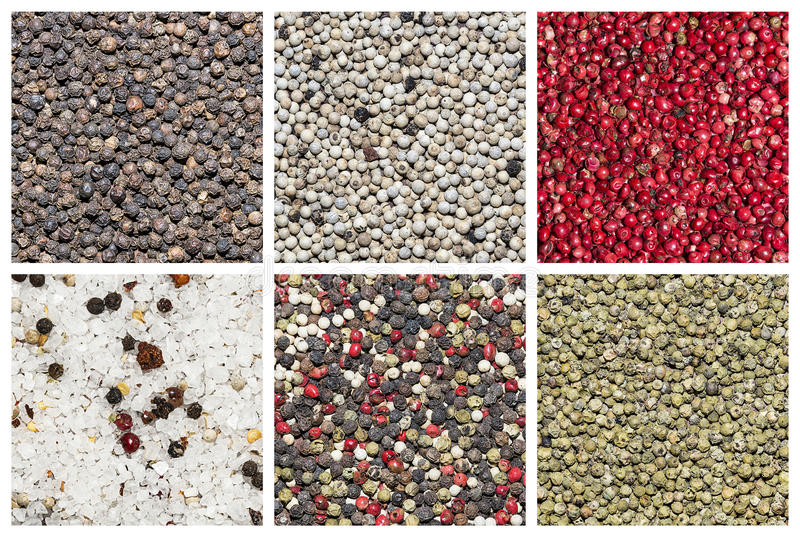 Pepper collage royalty free stock photography