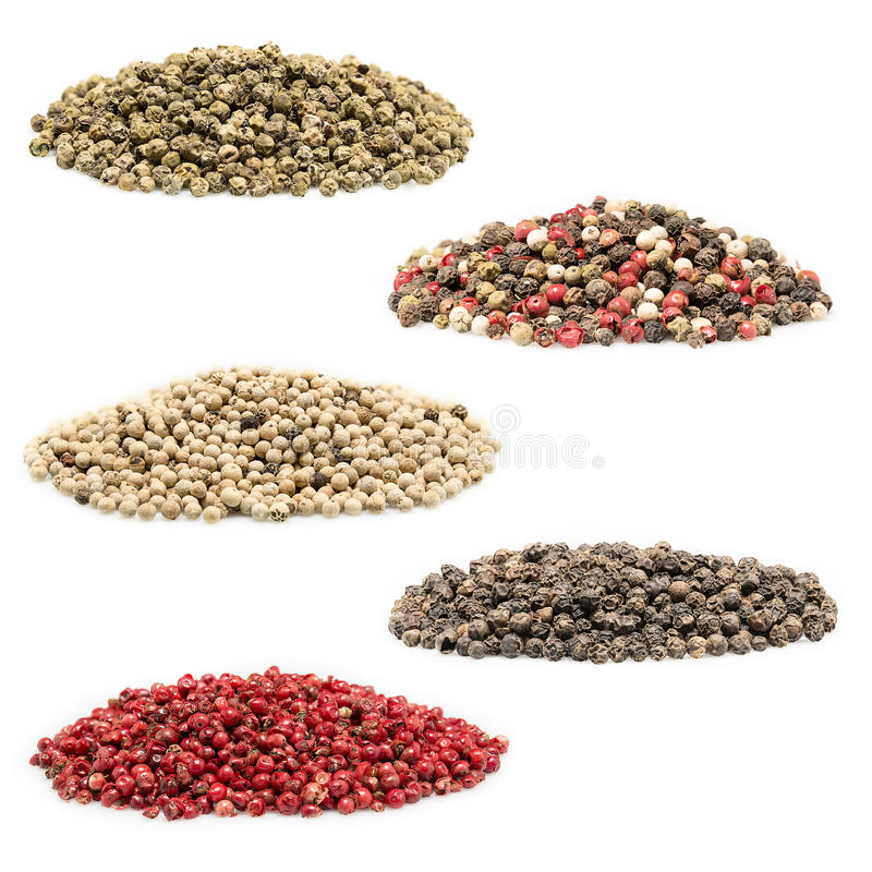 Pepper collage stock image