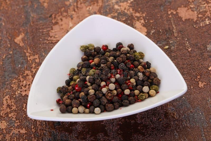 Pepper corn mix stock image