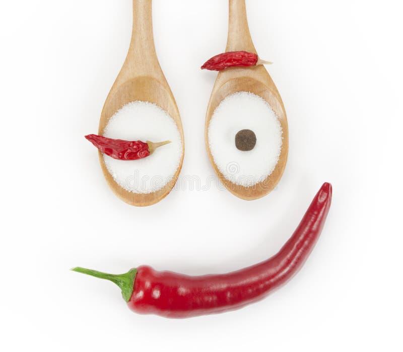 Pepper face stock photos