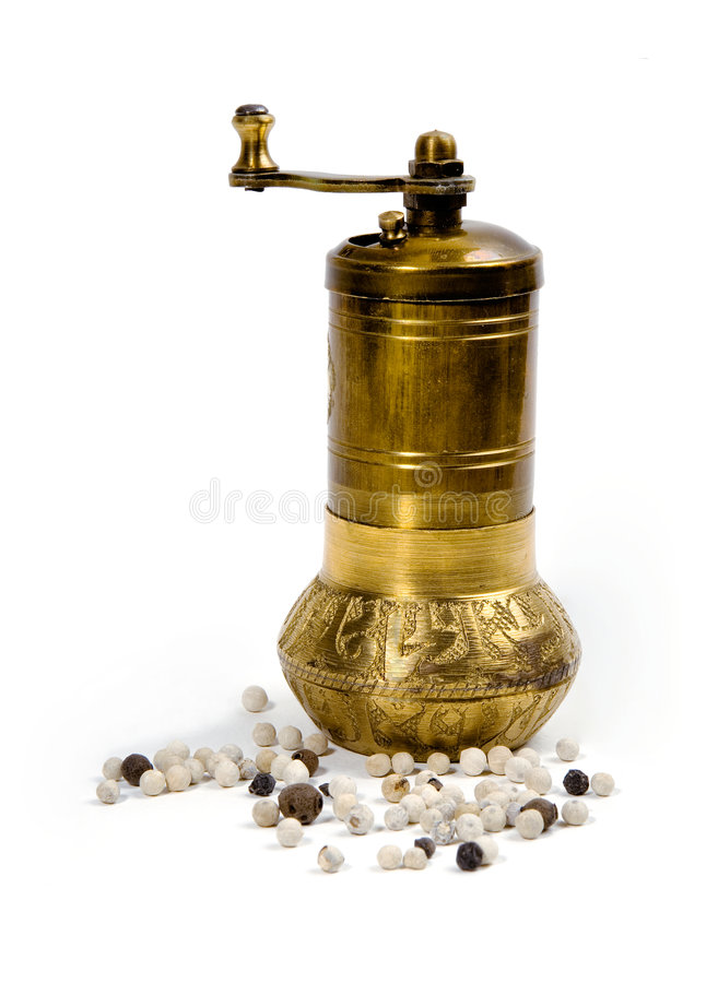 Download Pepper  Grinder And  Peppercorn Stock Photo - Image: 4951302