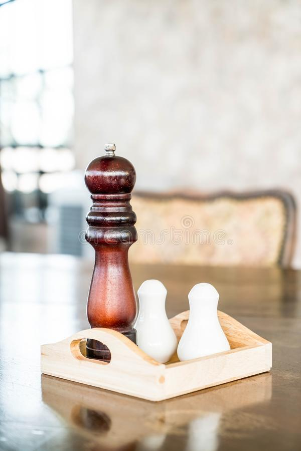 Pepper grinder and saltshaker royalty free stock photos