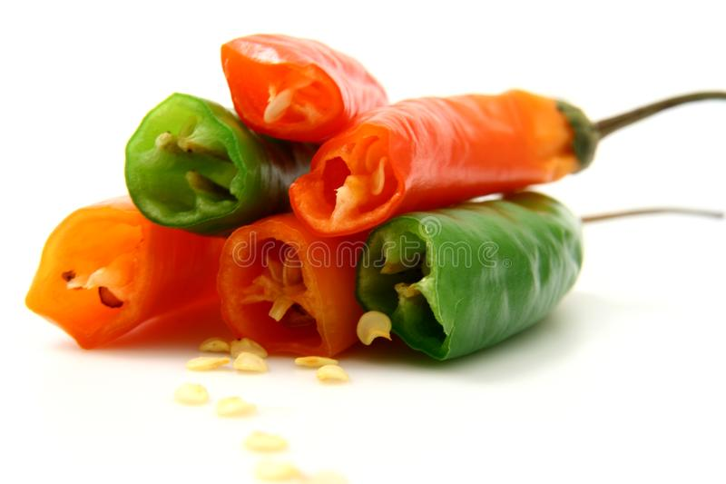Pepper isolated in White Backg royalty free stock photo