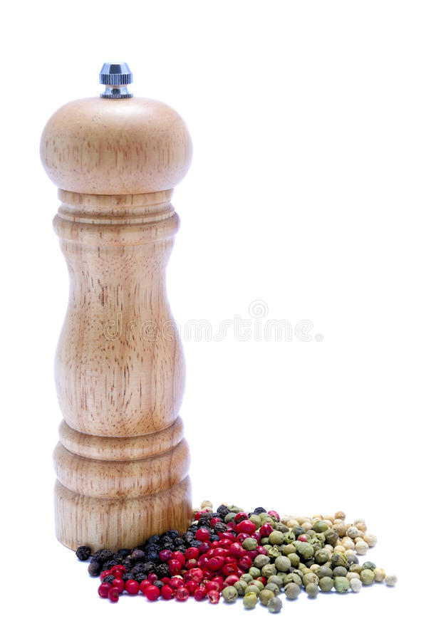 Download Pepper mill stock photo. Image of cuisine, green, ingredient - 18383688
