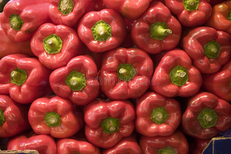 Pepper pattern. Red peppers or capsicums in pattern royalty free stock photos