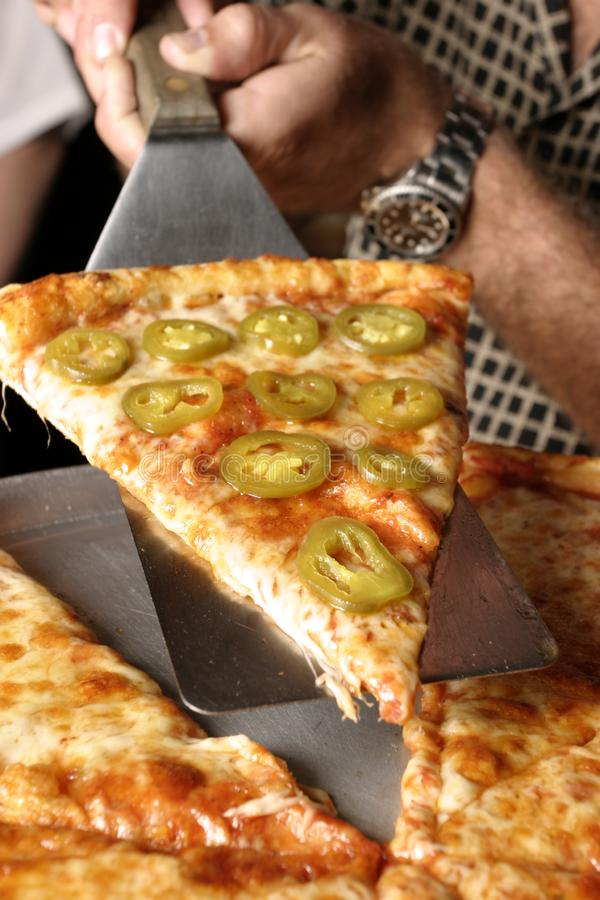 Pepper Pizza Angle royalty free stock image