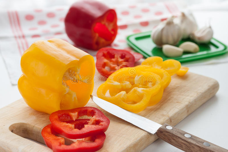 Pepper. Red, yellow and orange stock photo