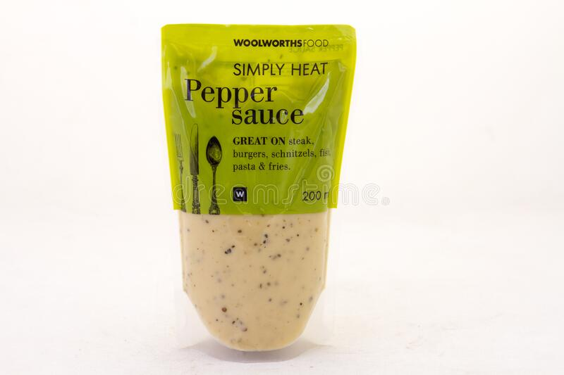 Pepper Sauce From Woolworths Food Editorial Stock Image Image Of Product Africa 188868849