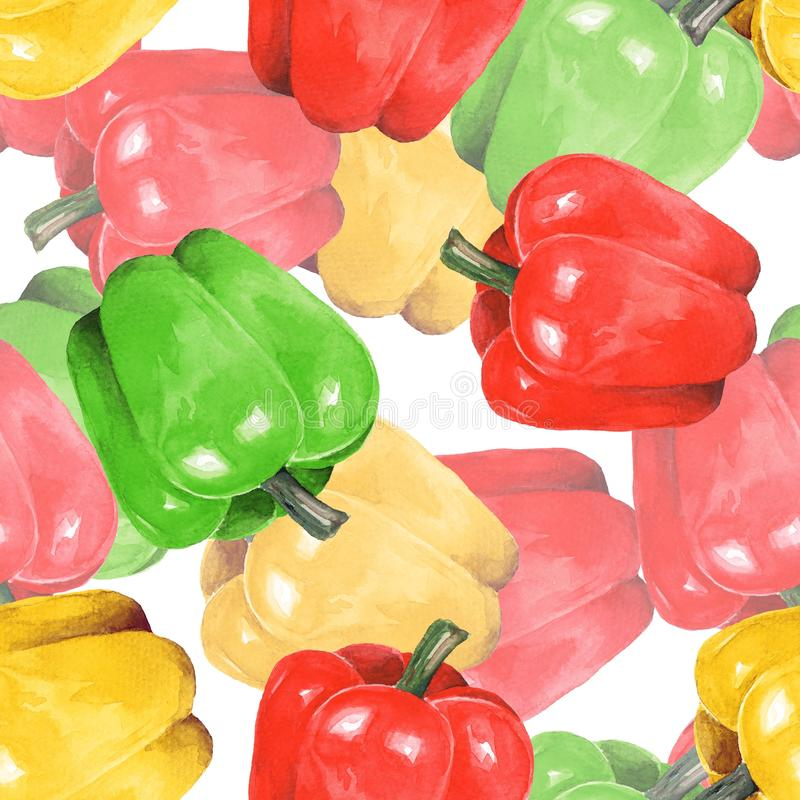 Free Pepper, Seamless Pattern 2 Stock Images - 95376334