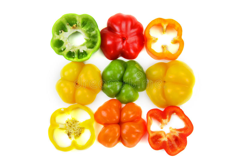 Pepper slices royalty free stock image