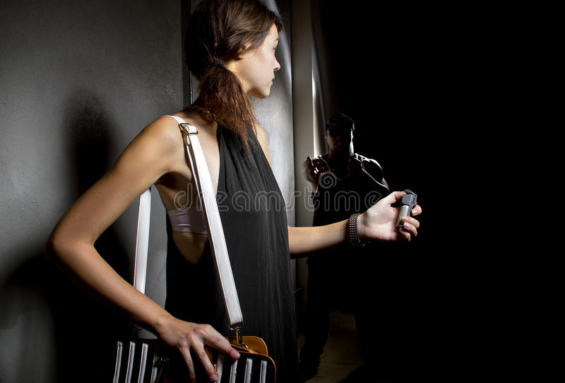 Pepper Spray for Women Protection stock image