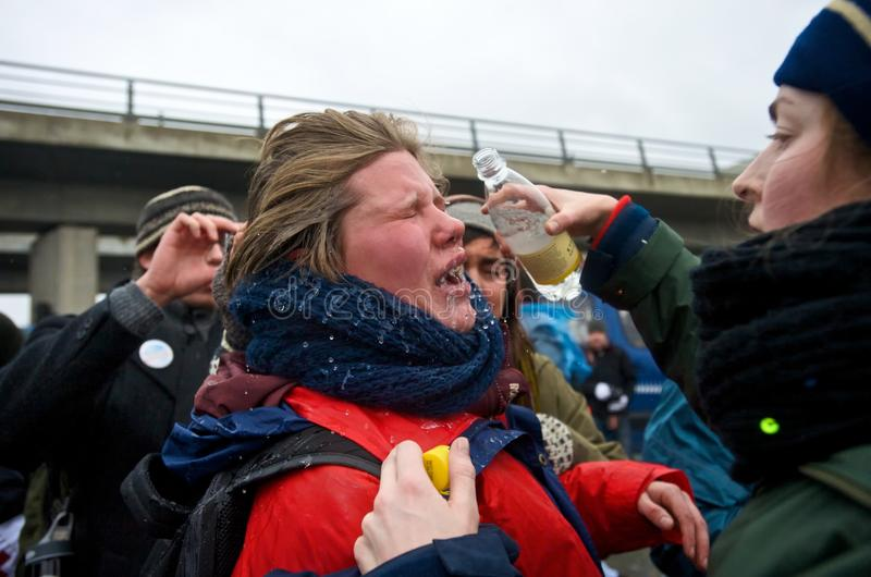 Download Pepper Sprayed Eyes editorial stock photo. Image of arctic - 22724693