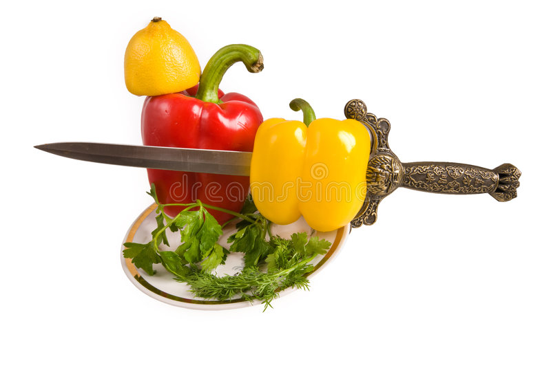 Download Pepper swee. stock photo. Image of isolated, pepper, plate - 7553786