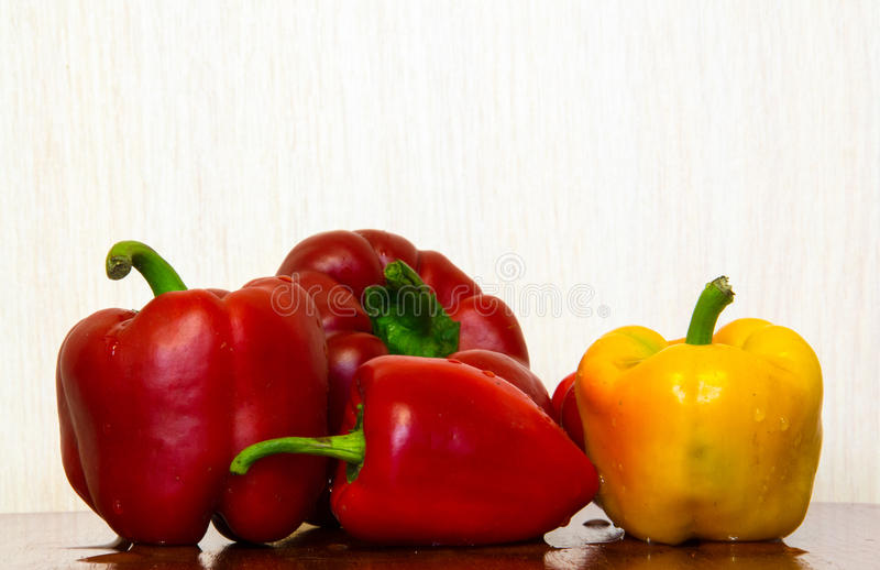 Pepper with water drops stock photos