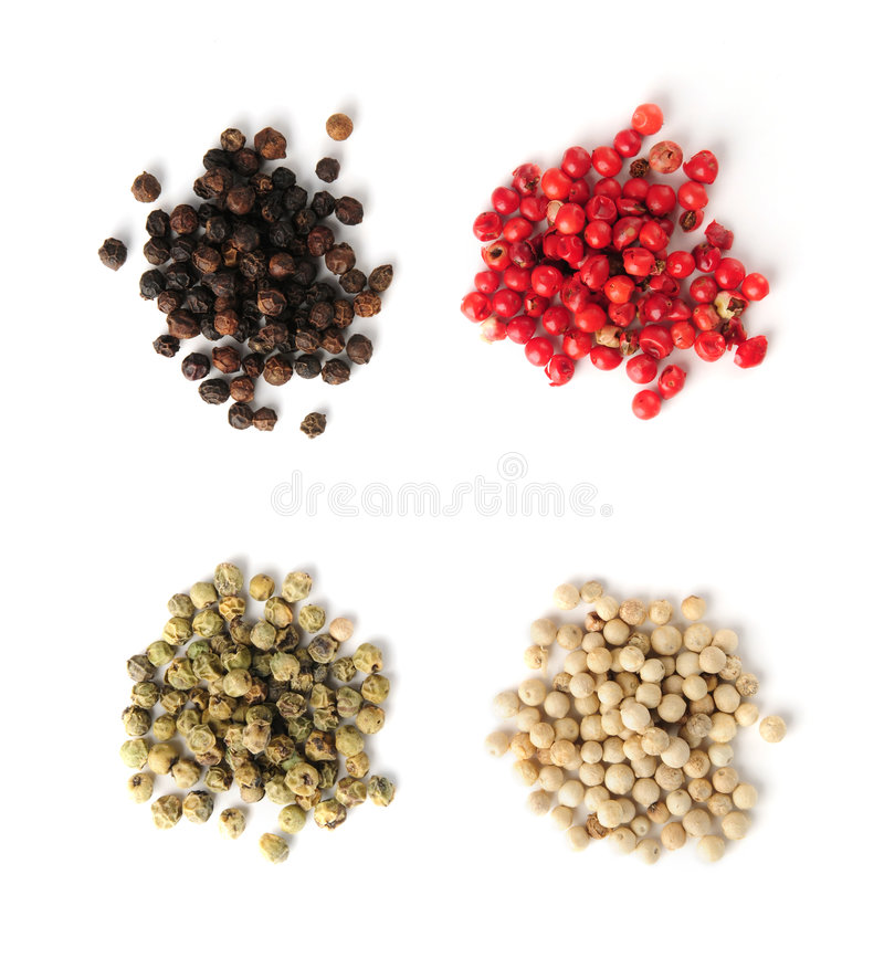 Peppercorns Assorted imagens de stock royalty free