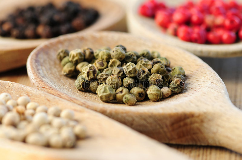 Peppercorns Assorted fotografia de stock royalty free