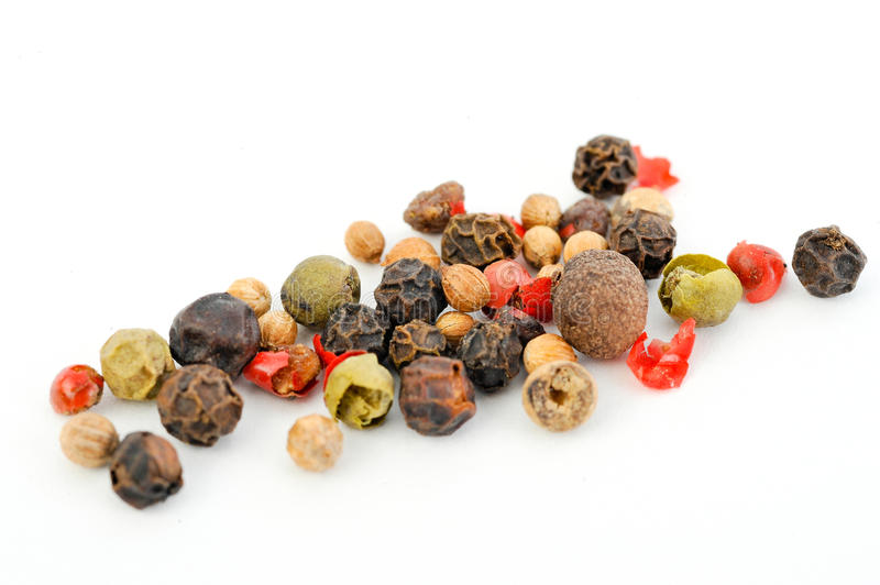 Peppercorns coloridos imagem de stock royalty free