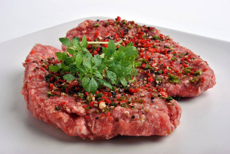 Download Peppered Lamb Grill Steak On A White Plate Stock Photo - Image: 11910086