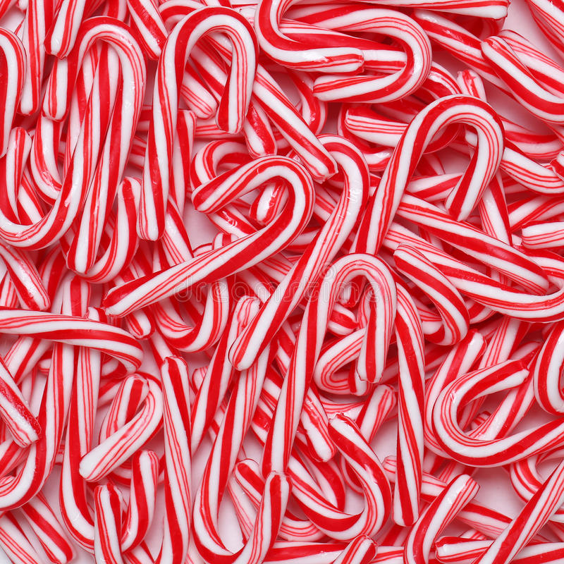 Free Peppermint Candy Canes. Christmas Stock Photography - 62426102