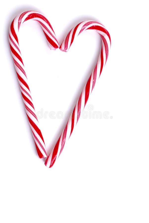 Peppermint Heart stock image