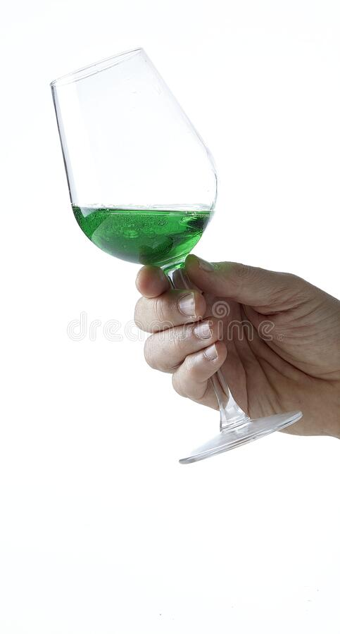 Peppermint liqueur Cocktail stock photos