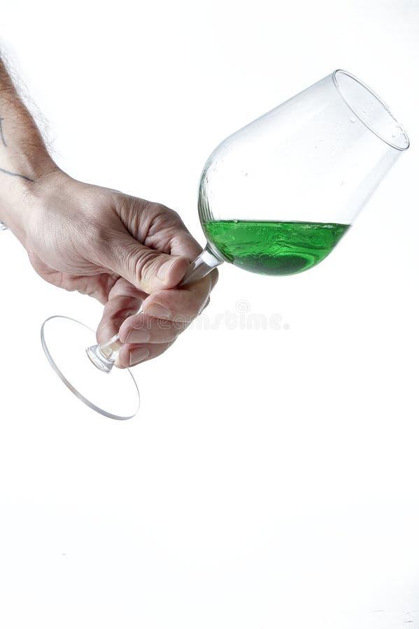 Peppermint liqueur Cocktail royalty free stock photos