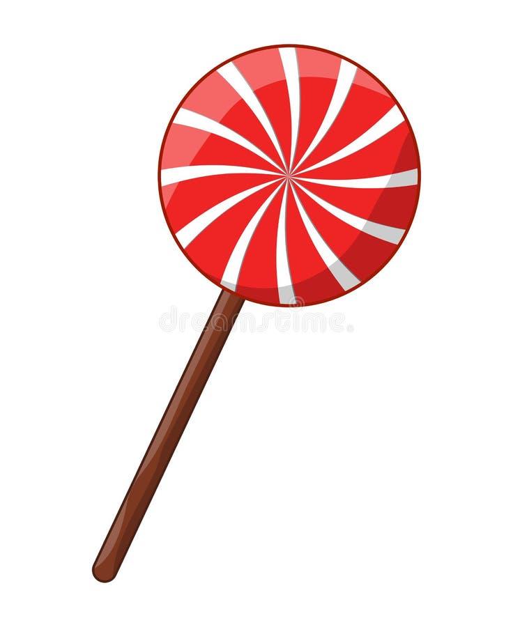 Peppermint lollipop στροβίλου ριγωτό διανυσματικό σχέδιο εικονιδίων συμβόλων διανυσματική απεικόνιση